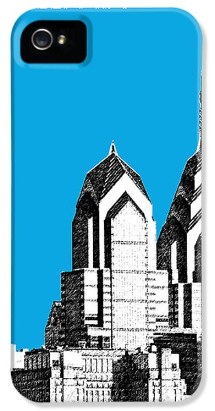 Philadelphia Skyline Liberty Place 1 - Ice Blue IPhone 5 Case by DB Artist
