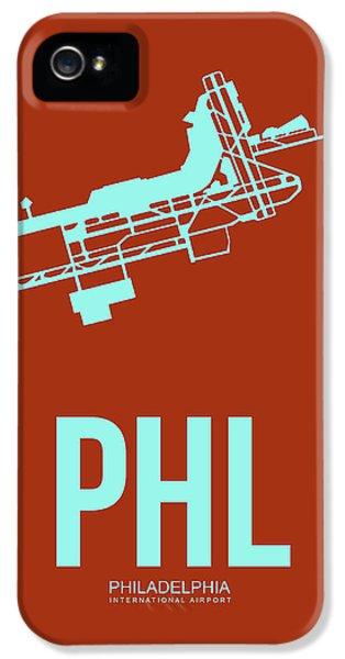 Phl Philadelphia Airport Poster 2 IPhone 5 Case by Naxart Studio
