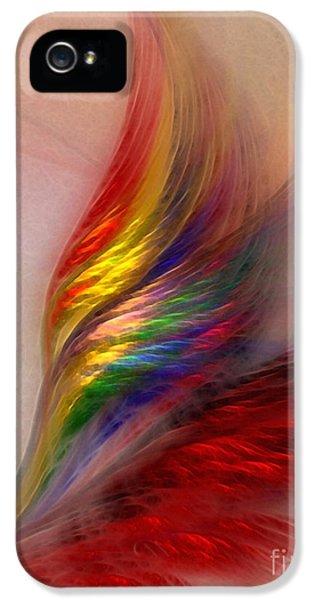 Illustrative iPhone 5 Case - Phoenix-abstract Art by Karin Kuhlmann