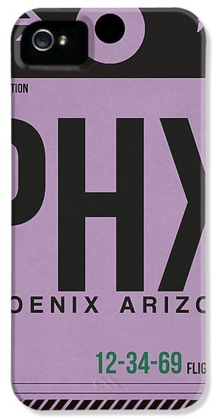 Phoenix Airport Poster 1 IPhone 5 Case by Naxart Studio