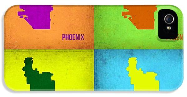 Phoenix Pop Art Map IPhone 5 Case by Naxart Studio