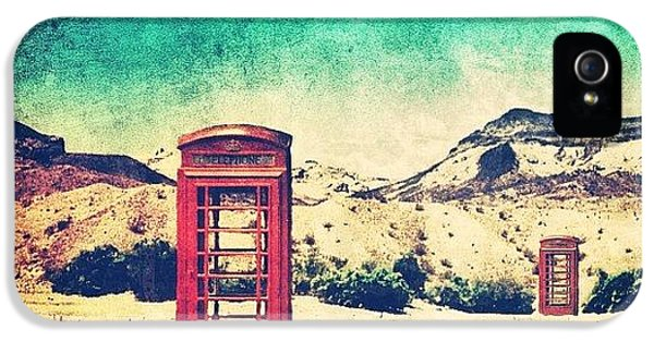 Sunny iPhone 5 Case - #phone #telephone #box #booth #desert by Jill Battaglia