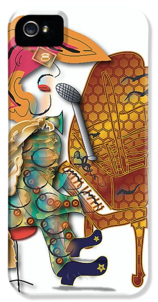IPhone 5 Case featuring the digital art Piano Man by Marvin Blaine