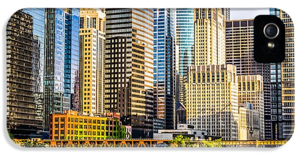 Picture Of Chicago Buildings At Lake Street Bridge IPhone 5 Case
