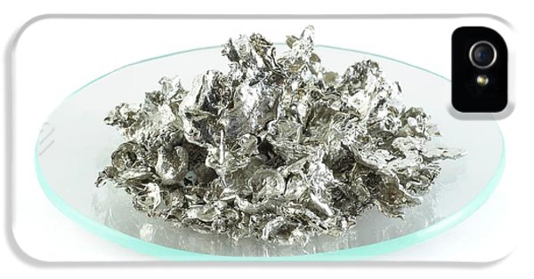 Toxicity iPhone 5 Case - Pile Of Tin Granules by Science Photo Library