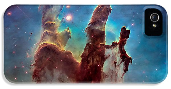 Science Fiction iPhone 5 Case - Pillars Of Creation In High Definition - Eagle Nebula by Jennifer Rondinelli Reilly - Fine Art Photography