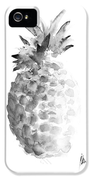 Pineapple Painting Watercolor Art Print IPhone 5 Case by Joanna Szmerdt