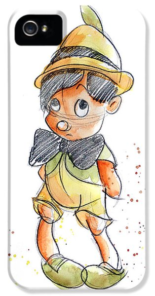 Pinocchio IPhone 5 Case by Andrew Fling