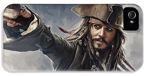 Pirates Of The Caribbean Johnny Depp Artwork 2 IPhone 5 Case by Sheraz A