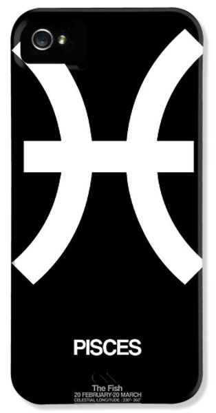 Pisces Zodiac Sign White And Black IPhone 5 Case