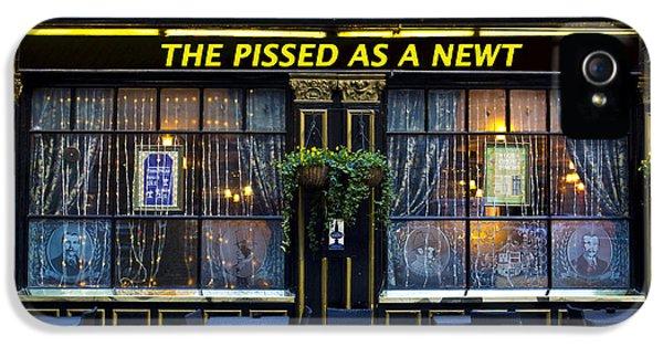 Pissed As A Newt Pub  IPhone 5 Case