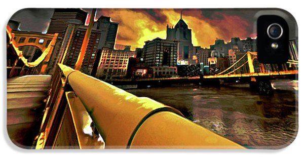 Pittsburgh Skyline IPhone 5 Case by  Fli Art