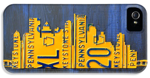Pittsburgh Skyline License Plate Art IPhone 5 Case