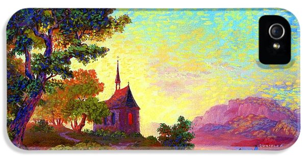 Beautiful Church, Place Of Welcome IPhone 5 Case by Jane Small