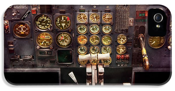Plane - Cockpit - Boeing 727 - The Controls Are Set IPhone 5 Case by Mike Savad