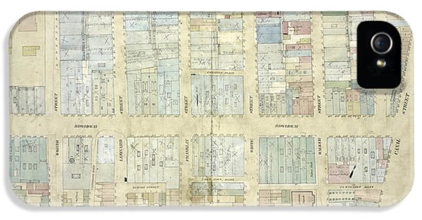Plate 15 Map Bounded By Church Street, Canal Street, Elm IPhone 5 Case