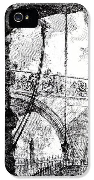 Dungeon iPhone 5 Case - Plate 4 From The Carceri Series by Giovanni Battista Piranesi