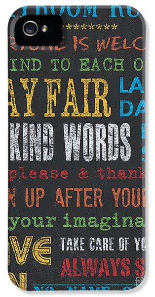 Playroom Rules IPhone 5 Case