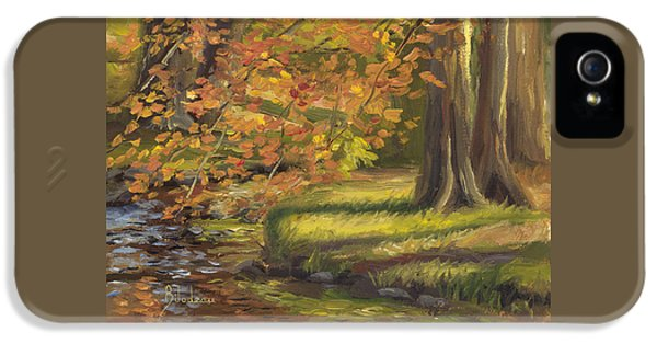 Plein Air - Trees And Stream IPhone 5 Case by Lucie Bilodeau