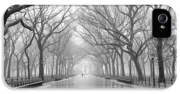 New York City - Poets Walk Central Park IPhone 5 Case by Dave Beckerman