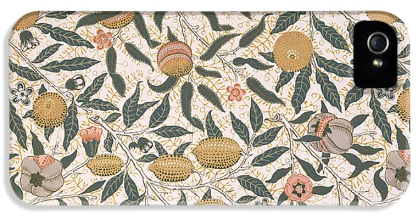 Pomegranate Design For Wallpaper IPhone 5 Case by William Morris