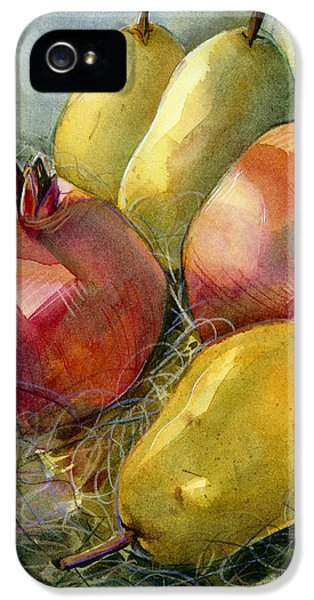 Pomegranates And Pears IPhone 5 Case by Jen Norton
