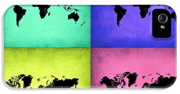 Pop Art World Map 2 IPhone 5 Case