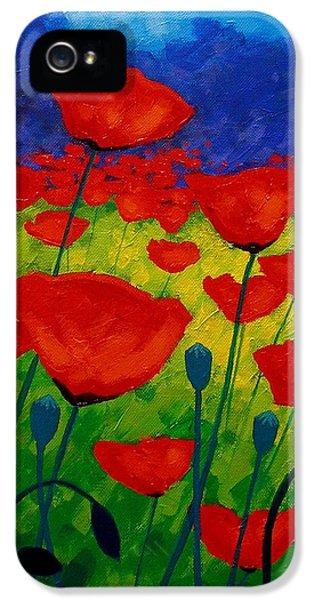 Poppy Corner II IPhone 5 Case by John  Nolan