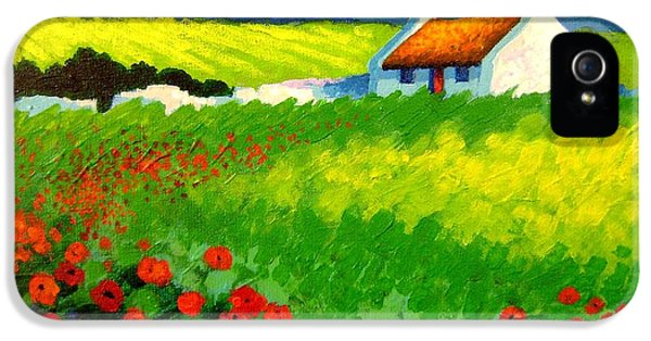 Poppy Field - Ireland IPhone 5 Case by John  Nolan
