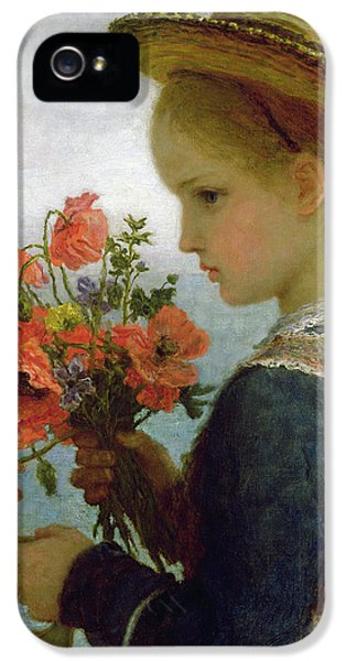 Poppy Girl IPhone 5 Case by Karl Wilhelm Friedrich Bauerle