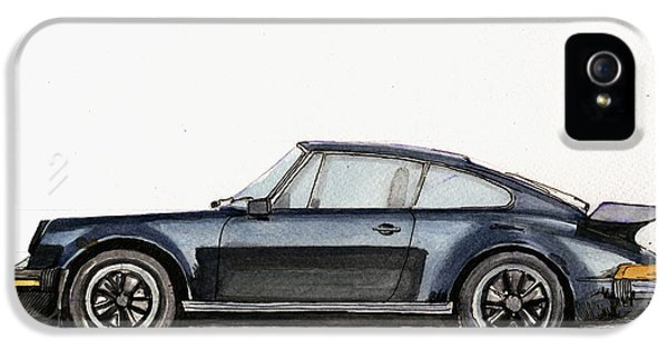Porsche 911 930 Turbo IPhone 5 Case by Juan  Bosco