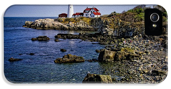 Portland Headlight 37 Oil IPhone 5 Case by Mark Myhaver
