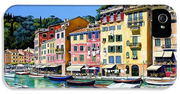 Portofino Sunshine Sold IPhone 5 Case by Michael Swanson