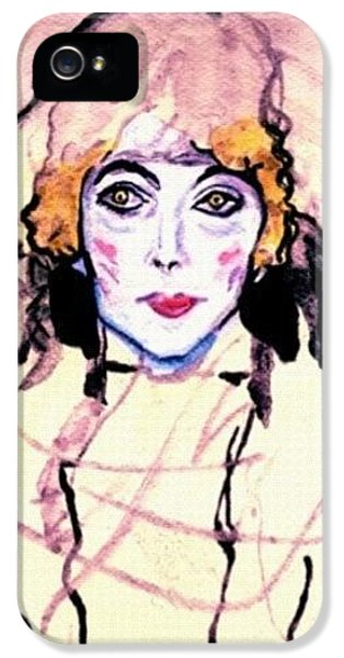 iPhone 5 Case - Portrait Of A Lady En Face After Gustav Klimt by Anna Porter