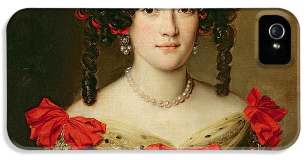 Portrait Of A Woman IPhone 5 Case by Jacob Ferdinand Voet