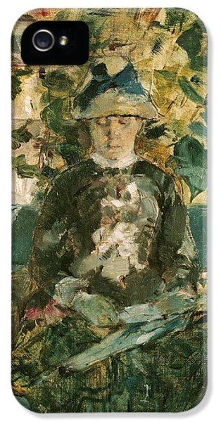 Portrait Of Adele Tapie De Celeyran IPhone 5 / 5s Case by Henri de Toulouse-Lautrec