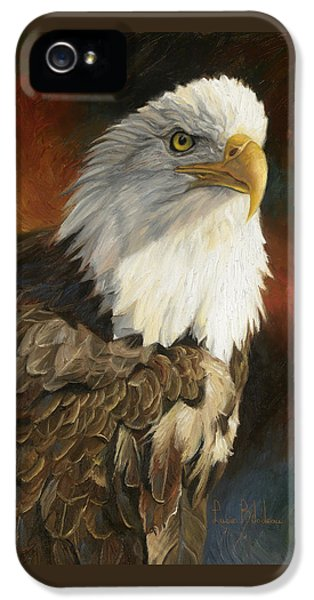 Portrait Of An Eagle IPhone 5 Case by Lucie Bilodeau