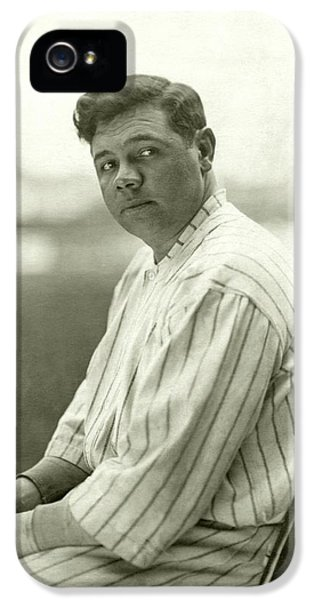 Portrait Of Babe Ruth IPhone 5 Case by Nicholas Muray