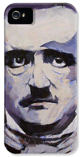 Edgar Allan Poe IPhone 5 Case by Michael Creese