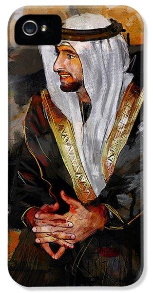 Portrait Of Hamdan Bin Mohammad Bin Rashid Al Maktoum 2 IPhone 5 Case by Maryam Mughal