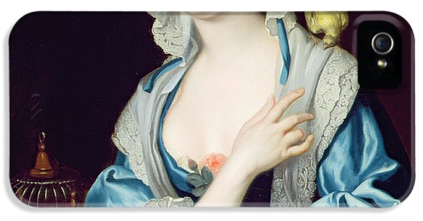 Canary iPhone 5 Case - Portrait Of Peg Woffington by Jean-Baptiste van Loo
