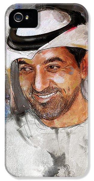 Portrait Of Sheikh Ahmed Bin Saeed Al Maktoum 2 IPhone 5 Case by Maryam Mughal