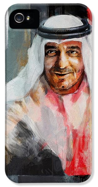 Portrait Of Sheikh Ahmed Bin Saeed Al Maktoum 3 IPhone 5 Case by Maryam Mughal