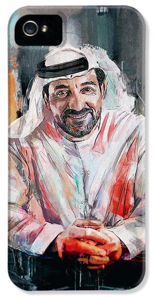 Portrait Of Sheikh Ahmed Bin Saeed Al Maktoum  IPhone 5 Case by Maryam Mughal