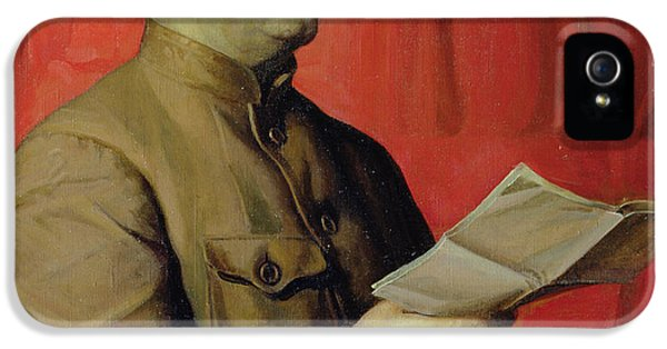 Portrait Of Stalin IPhone 5 Case by Isaak Israilevich Brodsky