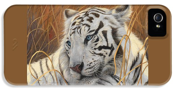 Portrait White Tiger 1 IPhone 5 Case