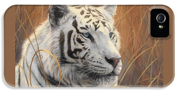 Portrait White Tiger 2 IPhone 5 / 5s Case by Lucie Bilodeau