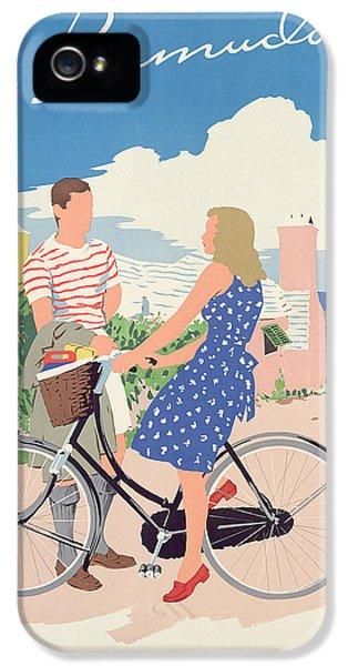 Bicycle iPhone 5 Case - Poster Advertising Bermuda by Adolph Treidler