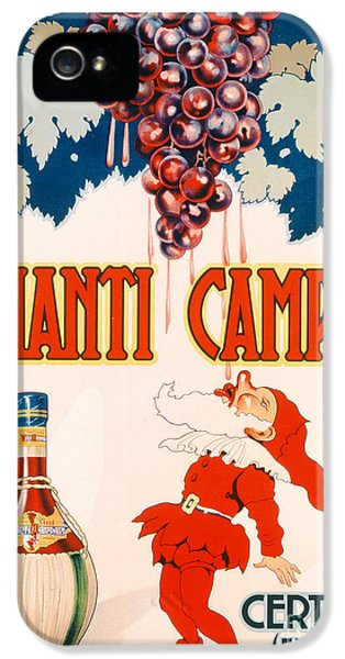 Poster Advertising Chianti Campani IPhone 5 Case by Necchi