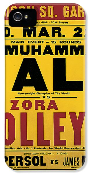 Poster Advertising The Fight Between Muhammad Ali And Zora Folley In Madison Square Garden IPhone 5 Case